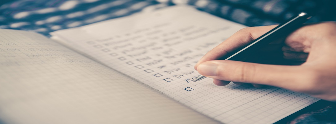 Checklist for the end of financial year